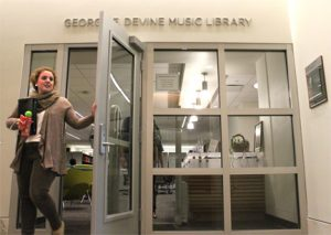 New entrance to the music library