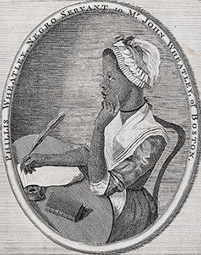 Illustration of Phillis Wheatley