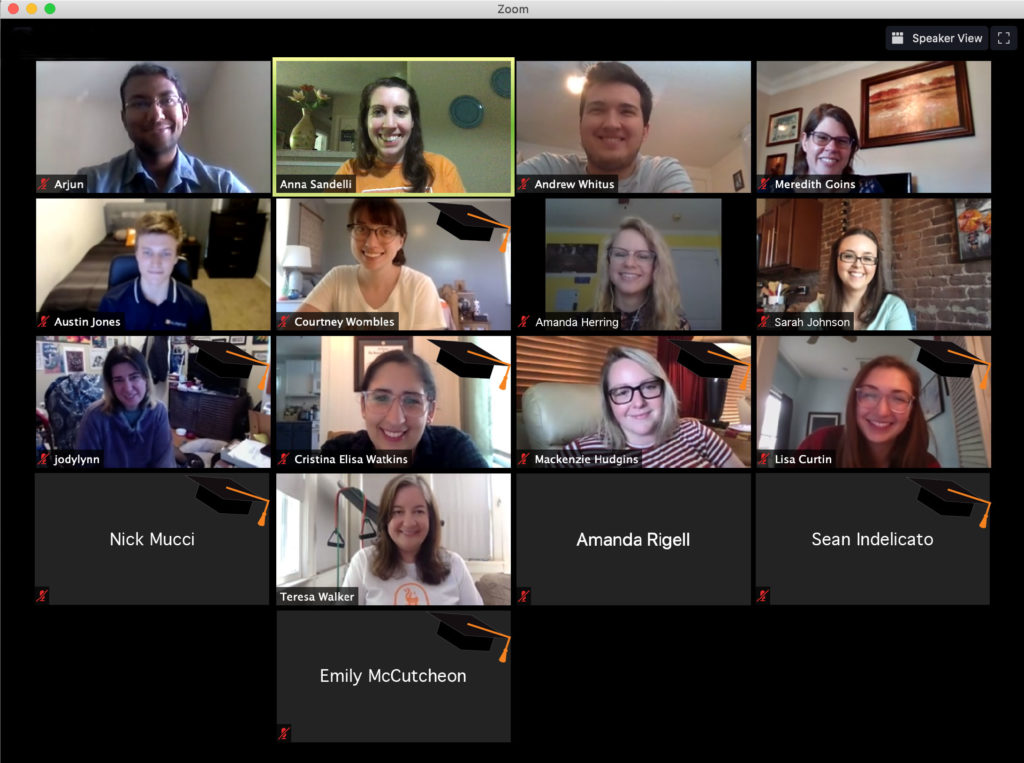 A virtual meeting of the Dean's Student Advisory Committee