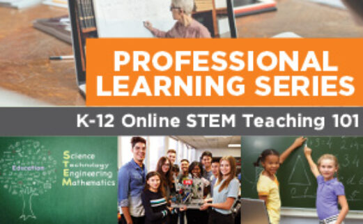 Image of students and teachers that reads: Professional learning series: Stem Teaching 101