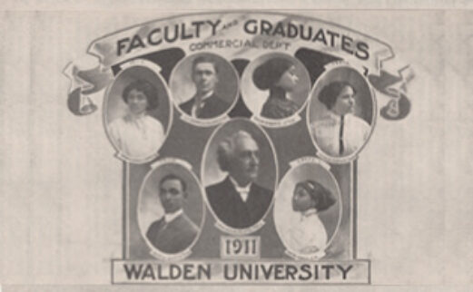 Image showing Faculty and Graduates of Walden University in 1911