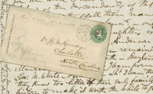 Image of an old envelope and letter