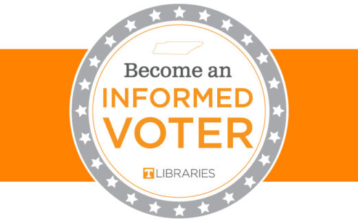 Circle image that asks people to become informed voters