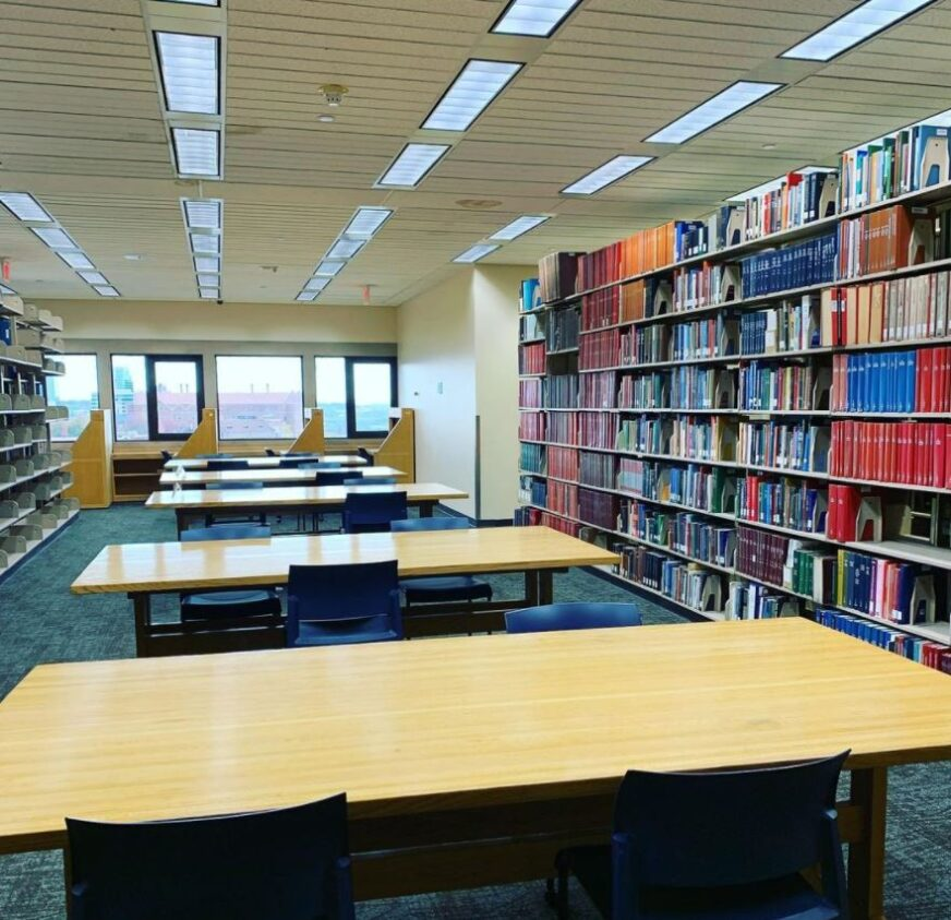 Open study desks for Exams at Hodges