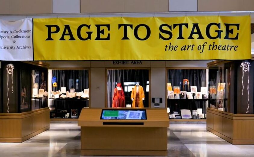 Photograph of Page to Stage theatre exhibit at Hodges Library