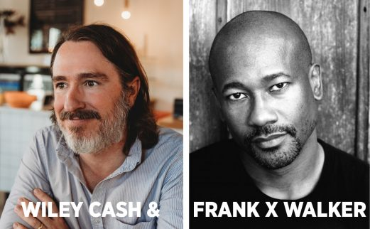 photos of authors Wiley Cash and Frank X Walker
