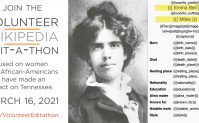 Image of Emma Bell Miles with information about Joining the Volunteer Wikipedia Edit-a-thon on March 16, 2021