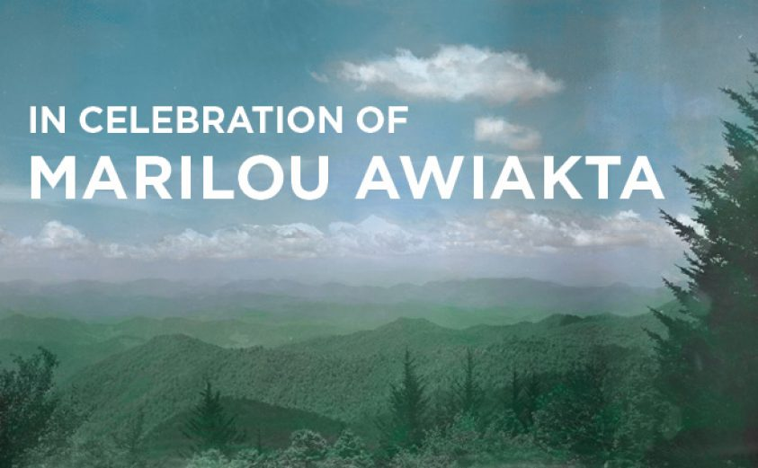 """image of Smoky Mountains with legend: """"In Celebration of Marilou"""