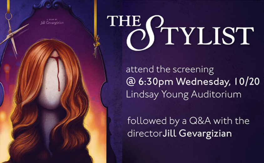"""graphic of the movie """"The Stylist"""""""